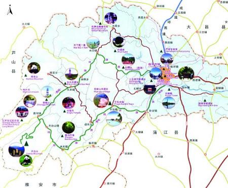 邛崃旅游资源分布图图片