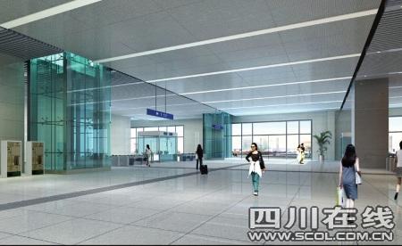 该站为地上二层双岛式站台车站