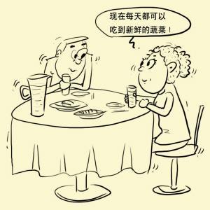 餐桌简笔画