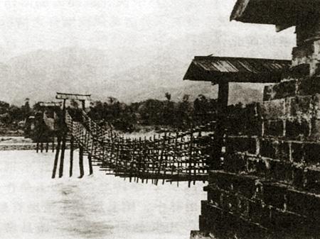 都江堰新老照片对比 安澜索桥 组图