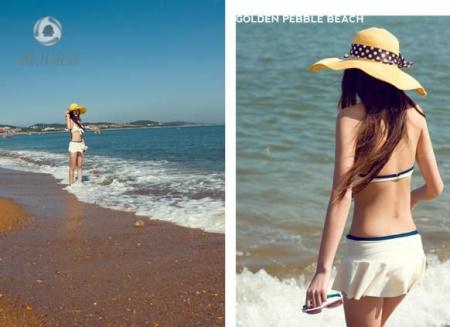 80后美女大连海滩比基尼秀