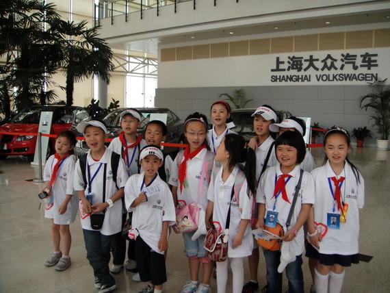 参观上海大众汽车制造厂-我们在一起 大众心 世博情高清图片