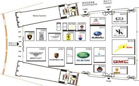 奥迪车展的原始平面结构图