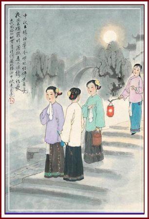 中秋习俗:走月亮