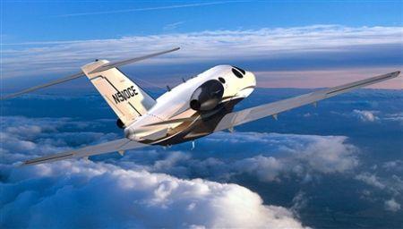 飞行中的Citation Mustang
