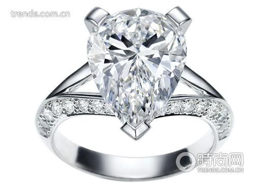 Van Cleef &Arpels 高级珠宝 系列铂金镶钻石婚戒