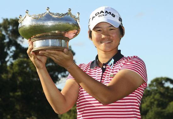 曾雅妮在上周的澳洲女子公开赛上夺冠