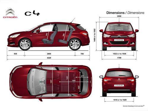 新C4两厢版整车尺寸