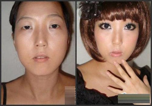 化妆术竟如此神奇 曝校花卸妆前后对比照(组图)