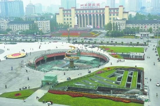 昨日俯瞰天府广场 摄影记者 卢祥龙