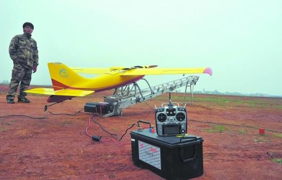 刀锋无人机采用的是水上飞机的滑橇