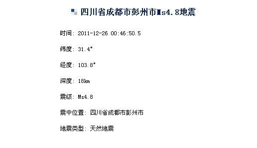 中国地震台网中心网站截图