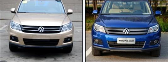 1.4TSI车型格栅改为单条装饰(左)