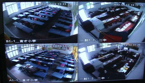 各个考点都安装了球型摄像头,监控中心可随时看到考生及监考老师的一