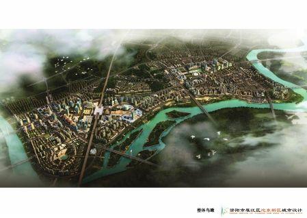 资阳城东新区整体鸟瞰。