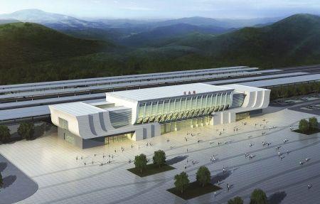 成绵乐客专乐山站前,将崛起现代商贸物流区——青江新区商圈(效果图)。