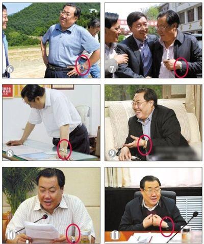 昨日,网友检索出陕西安监局长杨达才疑似戴过更多块表。资料图片
