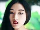 中国风摄影作品成都美女与宝光寺