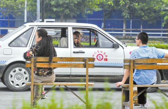 贵旺驾校被整顿。9月18日,等待练车的人寥寥无几。