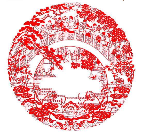 剪纸绣球步骤图片