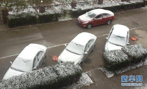 11月3日,呼和浩特市迎来入秋以来首场降雪。
