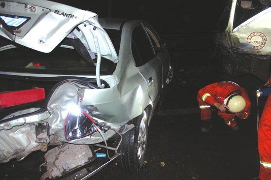 事故车辆已严重变形