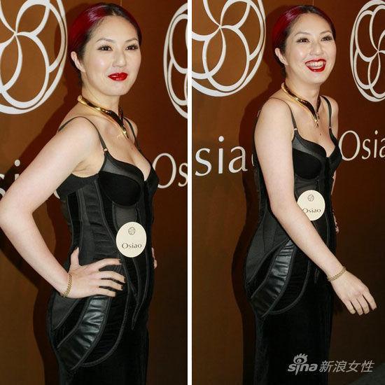 组图:透视纹身蕾丝 李玟杨千桦肉搏裹身裙 新