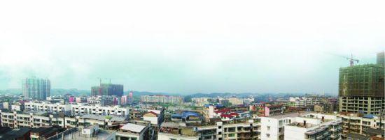 正在发展的内江连界新镇。