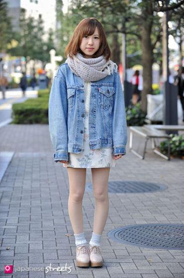 日本美女街拍 丝袜短裤日系装扮人人都是杂志款
