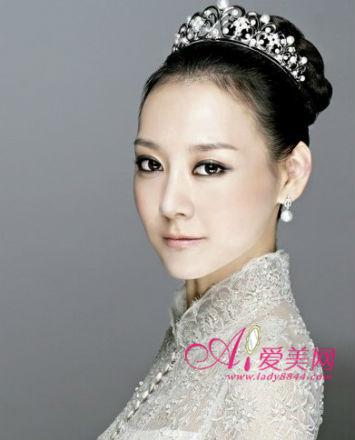 甜美韩式新娘妆容图片
