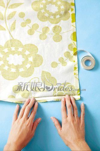 婚礼上花边桌布diy 制作步骤