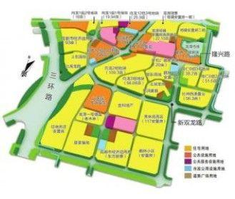 龙潭新城现代商务商贸区用地分布图制图李潇雪