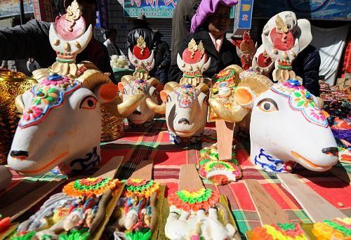 藏历新年   地区的年夜饭大大不同了.记得要品尝藏族年夜...