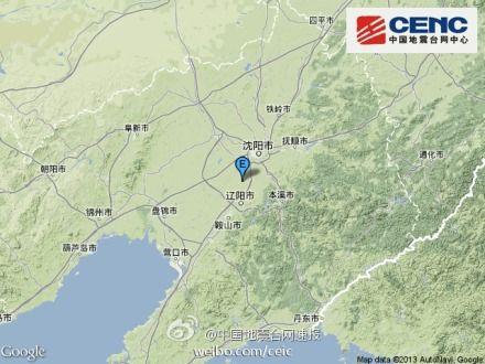 地震位置图