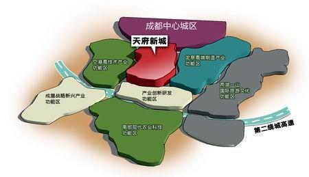 天府新城区位图