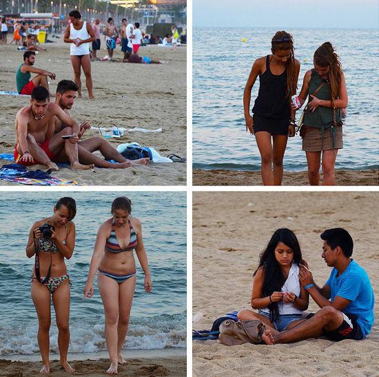 情迷巴塞罗那海滩美臀辣妹看不停(图)