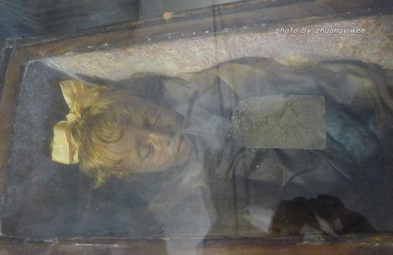 意大利西西里地下墓穴的睡美人