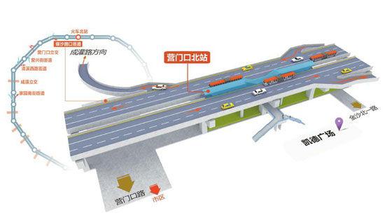 二环高架路的西段匝道示意图制图-李潇雪