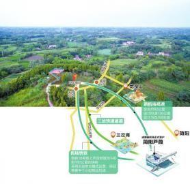 6月21日,简阳市草池镇实奋村新机场选址地址。