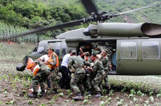 直升机救灾
