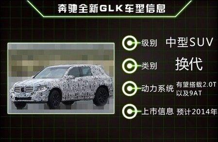 奔驰全新GLK车型信息