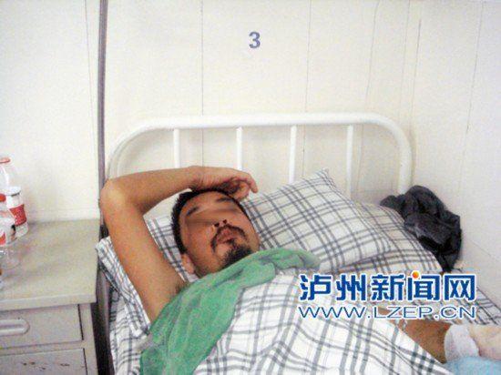 躺在病床上的段太素。(图片由段太华提供)