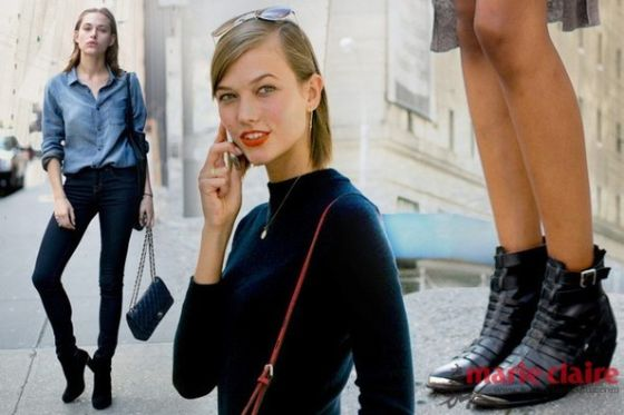 超模都爱穿踝靴!街拍教学最IN搭配(图)