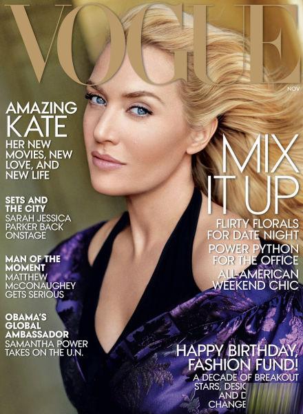 凯特·温丝莱特怀孕后首登杂志封面依然女王