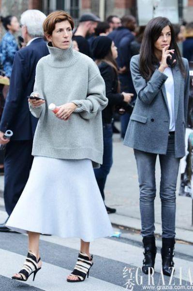 要温度也要时髦度演绎秋季套头毛衫穿搭