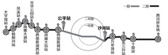 4号线二期工程站点示意图 制图 姜宣凭