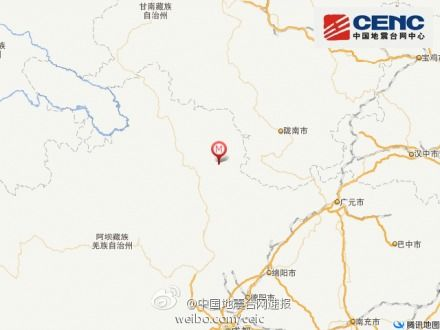 地震位置示意图