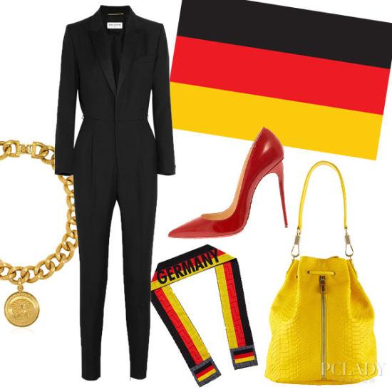 德国国旗 点燃火热世界杯夏装