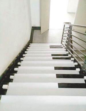 """设计""""钢琴楼梯"""""""