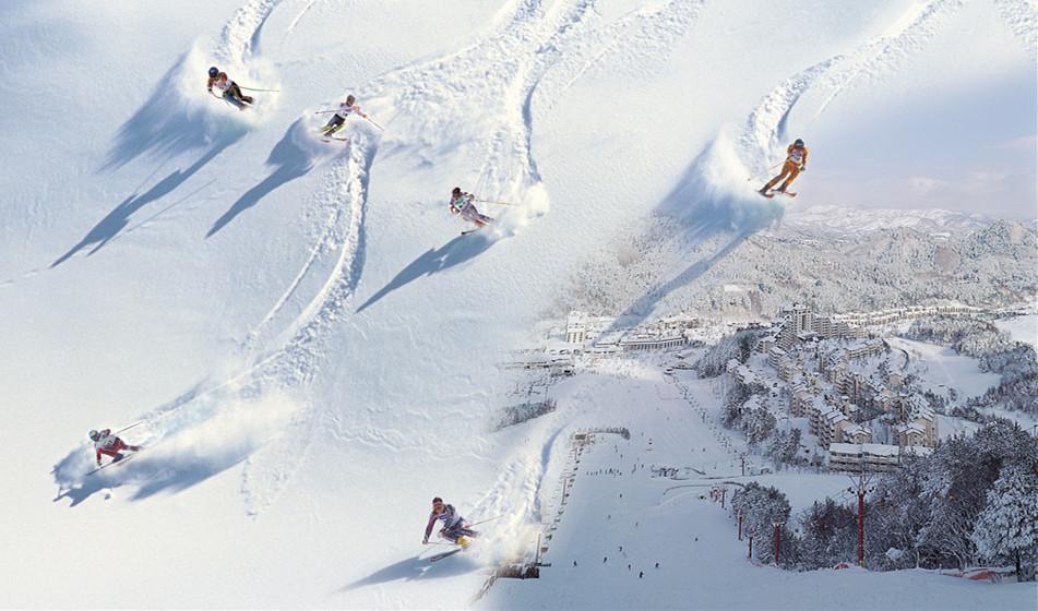 2018冬季奥运会比赛指定赛场韩国江原道龙平滑雪度假村